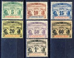 Haut Senegal-Niger Tasse 1906 Serie N. 1-7 Palmiers MLH Catalogo € 137 - Non Classés