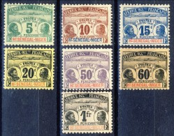 Haut Senegal-Niger Tasse 1906 Serie N. 1-7 Palmiers MLH Catalogo € 137