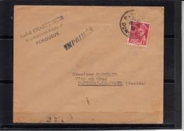 Mercure 30c Rouge SEUL Sur Lettre De PERIGUEUX Annee 1938 Pour FONTENAY LE COMTE Vendee - 1938-42 Mercure