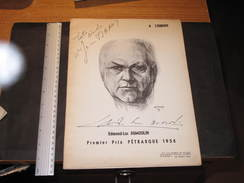 EDMOND DUMOULIN-PREMIER PRIX PETRARQUE 1956 - Poèmes Et Partitions - 1ere Mondiale Bruxelles - Programmes