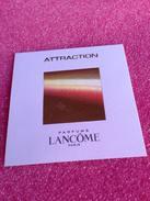 Carte Parfumée  ATTRACTION De LANCOME - Perfume Cards
