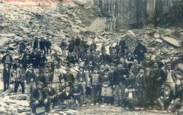 Tarn - Dourgne - Ardoisières De Limatge - Un Groupe D'Ardoisiers - Dourgne