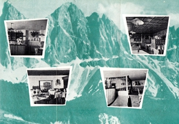 3 Teiliges Faltprospekt  -- Albergo Alpino Valcroce Sull´ Autostrada Bressanone - Plose - Alpenhotel Kreuztal 1962 - Reiseprospekte
