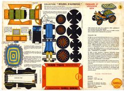 PANHARD ET LEVASSOR 1894  COLLECTION SCHELL BERRE   BOLIDES D AUTREFOIS   MAQUETTE EN CARTON  EDITION ANNEE 50 - Carton / Lasercut
