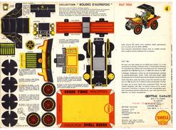 FIAT 1901  COLLECTION SCHELL BERRE   BOLIDES D AUTREFOIS   MAQUETTE EN CARTON  EDITION ANNEE 50 - Paper Models / Lasercut