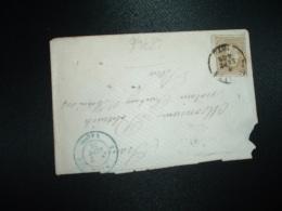 LETTRE Pour La FRANCE TP 25 OBL.6 SEPT 1876 + OBL. BLEUE 7 SEPT 76 BELG 5 VALNES - 1869-1883 Léopold II