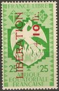 AEF Yv N°185 France Libre Phénix Surcharge LIBERATION Neuf Sans Charnière **  MNH - A.E.F. (1936-1958)