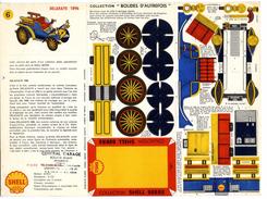 DELAHAYE 1896  COLLECTION SCHELL BERRE   BOLIDES D AUTREFOIS   MAQUETTE EN CARTON  EDITION ANNEE 50 - Paper Models / Lasercut