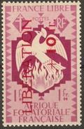 AEF Yv N°188 France Libre Phénix Surcharge LIBERATION Neuf Sans Charnière **  MNH - A.E.F. (1936-1958)