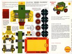 JEANTAUD 1898 COLLECTION SCHELL BERRE   BOLIDES D AUTREFOIS   MAQUETTE EN CARTON  EDITION ANNEE 50 - Paper Models / Lasercut