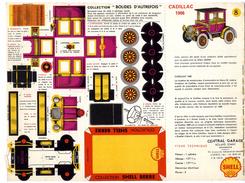 CADILLAC 1906  COLLECTION SCHELL BERRE   BOLIDES D AUTREFOIS   MAQUETTE EN CARTON  EDITION ANNEE 50 - Paper Models / Lasercut