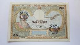 Occupazione Montenegro Italiana 1000 Dinari 1931 - Non Classificati