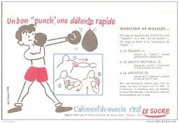 """Buvard - Un Bon """" Punch """" Une Détente Rapide - Sports"""