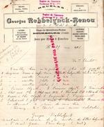 59- BOURBOURG- FACTURE GEORGES REBBELLYNCK-RENOU- RUE HOTEL VILLE- ALLOIRS-MEUBLES-PRIE DIEU-CHAISES-1925 - France