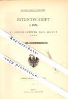 Original Patent - Rudolph Ludwig Henne In Husum ,1879, Reiss- Und Schreibfederhalter , Fedehalter , Füllfederhalter !!! - Schreibgerät