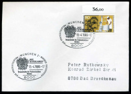 39452) BRD - Michel 1277 - SoST 8000 MÜNCHEN 2 Vom 13.04.1986 - Brot, Getreide, Hunger, Motiv = Marke - Poststempel - Freistempel