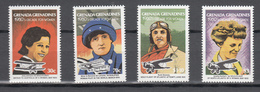 Grenada Grenadines 1981,4V,set,Amy Johnson,la Baronne De Laroche,Ruth Nichols,Amelia Earhart,Aviation,MNH/Postfris(A3005 - Avions
