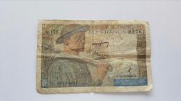FRANCIA 10 FRANCS 1949 - 1871-1952 Circulated During XXth