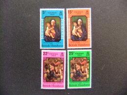 BRITISH HONDURAS HONDURAS BRITANNIQUE 1968 Noël Tableaux Yvert Nº 237 / 240 ** MNH Sg Nº 279 / 82 ** MNH - Madonnas