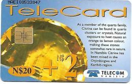 @+ Namibie - N$ 20 + 2 - Citrine.