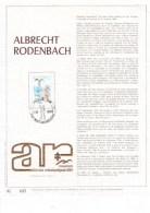 Carte Max Gold - Feuillet Or - 1993 - Albrecht Rodenbach - Cartoline Maximum