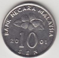 @Y@   Maleisië     10  Sen   2001     (4138) - Malaysie