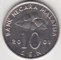 @Y@   Maleisië     10  Sen   2001     (4141) - Malaysie