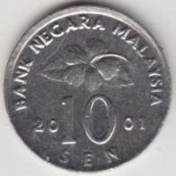 @Y@   Maleisië     10  Sen   2001     (4142) - Maleisië