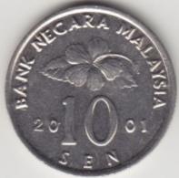 @Y@   Maleisië     10  Sen   2001     (4143) - Maleisië