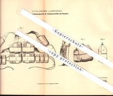Original Patent - J.P. Johansen In Kopenhagen , 1880 , Rettungsapparat Für Schiffsmannschaft , Schiffsrettung , DGzRS !! - Boats