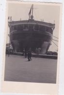 "CARD PHOTO NAVE ""REX"" A NAPOLI 1934  (SCRITTO A MANO SUL RETRO-FP-VDB-2- 0882-26315 - Paquebots"