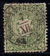 SACHSEN, 1863, Cancelled Stamp(s)3 Pfennig, MI 14 # 16081, - Saxony