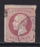 GERMANY -HANOVER  1859 Used  Stamp 1 Groschen Red Nr. 14 - Hanover