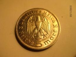 5 Reichmark 1936 G - 5 Reichsmark