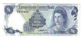 Cayman Island #5d 1 Dollar L.1974(1985) Banknote Currency - Cayman Islands