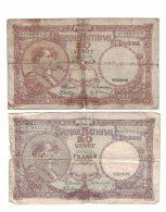 Belgium Lot Of 4 Banknotes Currency #111 20 Francs 1940 & 1944, #121 5 Francs 1943, #122 10 Francs 1943  Issues - Belgium