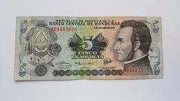 HONDURAS 5 LEMPIRAS 1978 - Honduras
