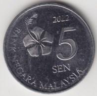 @Y@   Maleisië     5  Sen   2012     (4178) - Malaysie