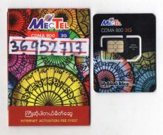 CARTE GSM/SIM MECTEL 3G  Myanmar