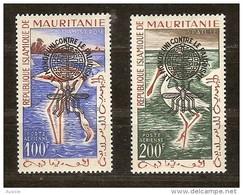 Mauritanie 1962 Yvertn° LP PA 20 A-B *** MNH Cote 40 Euro Faune Oiseaux Vogels Birds - Mauritanie (1960-...)