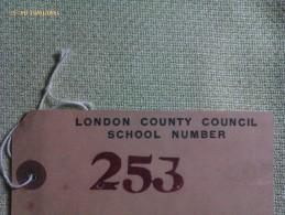 Etiqueta De Evacuación. Londres. Reino Unido. 1939-1945. II Guerra Mundial. Reproducción - 1939-45
