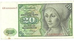 Billet 20 Deutsche Mark 2 Janvier 1980 Alphabet GN - 20 Deutsche Mark