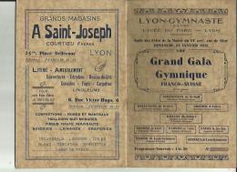 LYON _GYMNASTE  S A G _VIIIIe Grand Gala Gymnique FRANCO_SUISSE _9 CHAMPIONS SELECTIONNE_Le 24 Janvier1932 - Gymnastique