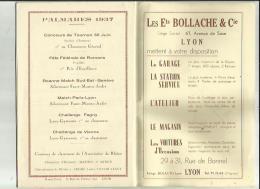 PROGRAMME _LYON _GYMNASTE  S A G _XVe Grand Gala Gymnique FRANCO_SUISSE _Le 16 Janvier 1938 A LYON 69 - Gymnastique