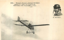 MONOPLAN SOMMER PILOTE PAR BATHIAT - ....-1914: Précurseurs