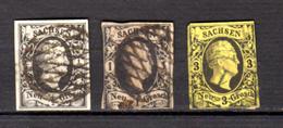 Frédéric Auguste II, 2-3-5, Cote 54,50 €, - Saxony