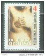 MK 2004-ZZ127 RED CROSS - AGAINST CANCERN, MACEDONIA,  1v, MNH - Macédoine