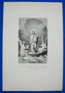 Grande IMAGE PIEUSE (28 Cm X 18 Cm) Gravure Alcan Fin XIXème NOTRE DAME DE BOULOGNE - Images Religieuses