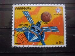 Paraguay Poste Aérienne N°756 VIKING En Vol Vers MARS Oblitéré