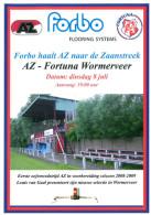 Programme Football 2008 2009 : Fortuna Wormerveer V AZ Alkmaar (Holland) Friendly - Books